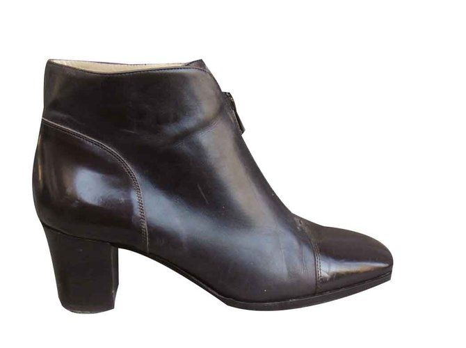 factory outlets speical offer run shoes Bally Ankle Boots Ankle Boots Leather,Patent leather Brown ...