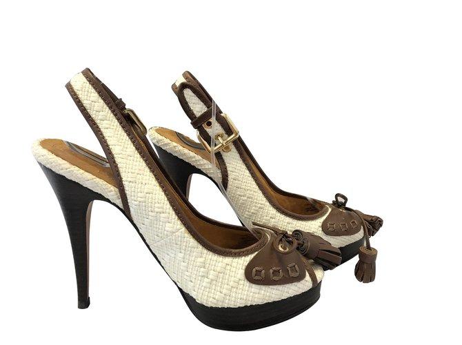 275a071a700 Zara Heels Heels Leather Brown