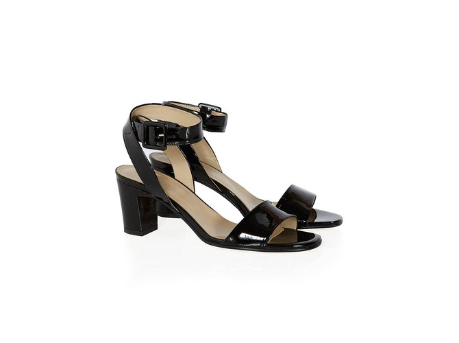 Hobbs Ref Leather Sandals Closet Patent Joli Black 107807 deCorxB