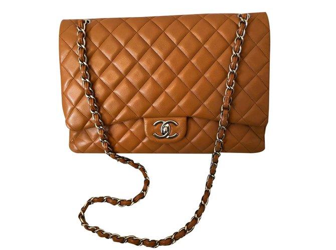 f91c38024ff86d Chanel Maxi Jumbo Handbags Leather Caramel ref.107835 - Joli Closet