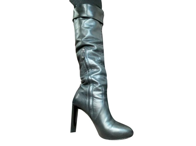 Céline High boots Boots Leather Black ref.107914