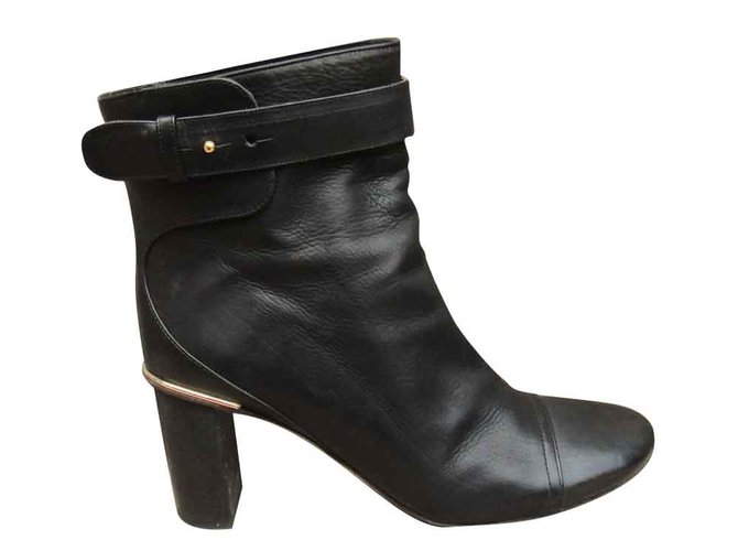 Chloé Ankle Boots Ankle Boots Leather Black ref.108063