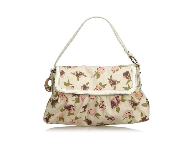 5a6184532e Fendi Floral Jacquard Chef Bag Handbags Leather