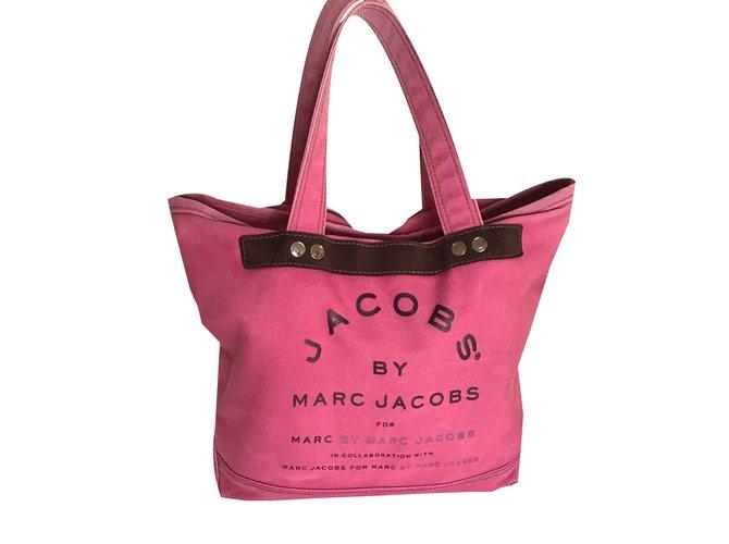 3c4c73175fce Marc by Marc Jacobs Handbags Handbags Cloth Pink ref.108278 - Joli ...
