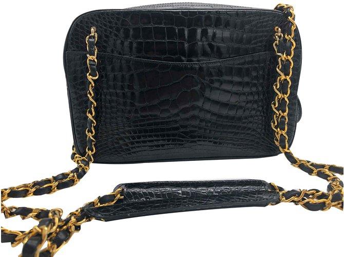 90ac15c9f3cd65 Chanel Chanel Camera Bag Handbags Exotic leather Black ref.108309 ...
