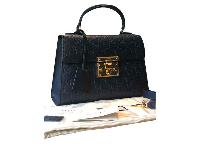 558d305eac5 Gucci Signature Padlock Small Handbag.