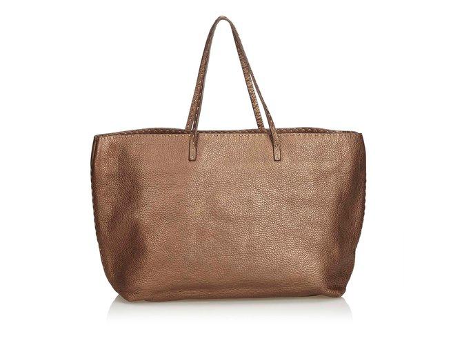 142b591544f5 Fendi Selleria Leather Tote Bag Totes Leather