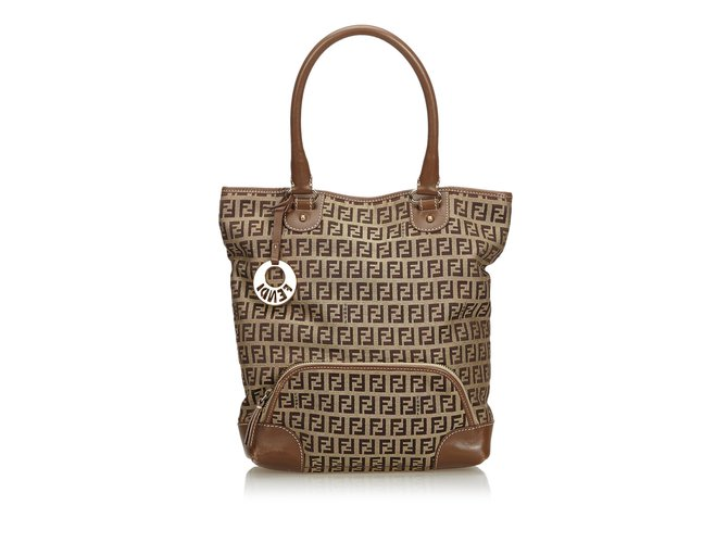 Fendi Zucca Jacquard Tote Bag Totes Leather 833183a13c7d8