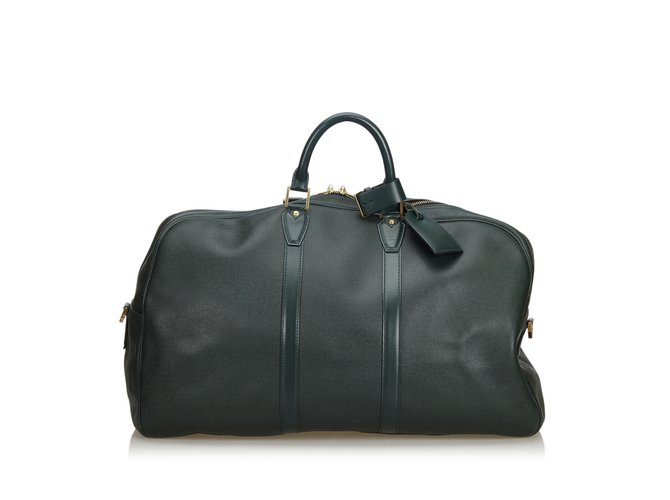 7ccab30e731 Louis vuitton taiga kendall travel bag leather other black ref jpg 670x500 Taiga  kendall