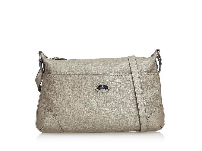 513f63bd55ec Fendi Selleria Leather Crossbody Bag Handbags Leather