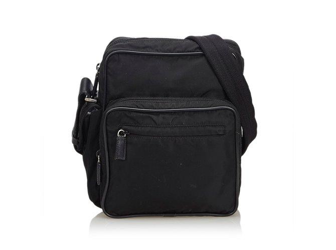 21cc47c3ff Prada Nylon Crossbody Bag Handbags Leather