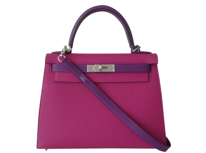 76f8b82c7a16 Hermès Hermes Kelly bag 28 Sellier Handbags Leather Pink