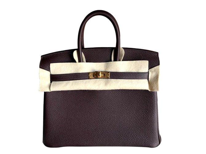 2e638a88ca Hermès Birkin 25 Handbags Leather Chocolate ref.108515 - Joli Closet