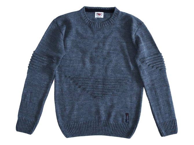 Armani Sweaters Sweaters Wool Grey ref.108580