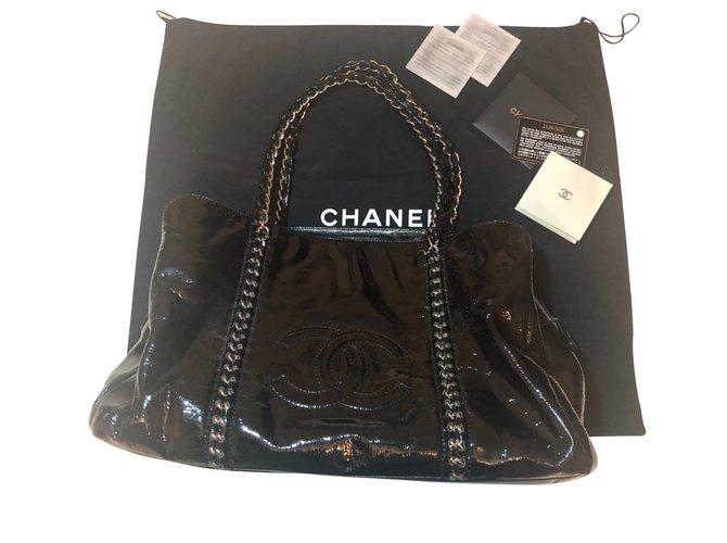 590cc1d39399 Chanel Big bag tri compartment compartment chanel Handbags Polyester  Black