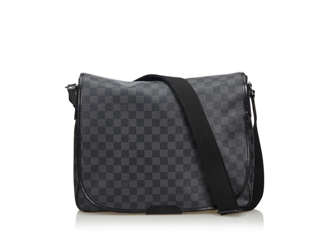 c872c47d59 Sacs à main Louis Vuitton Damier Graphite Daniel MM Toile Noir,Gris  ref.108629