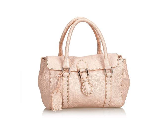 6527688a36 Fendi Mini Linda Leather Handbag Handbags Leather