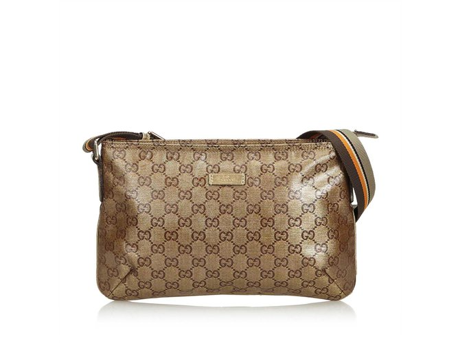 dd26d0515fc Gucci GG Supreme Coated Canvas Crossbody Bag Handbags Cloth