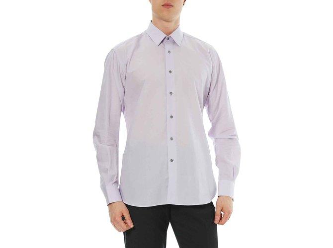 Karl Lagerfeld LAGERFELD NEW LIGHT PINK SHIRT Shirts Cotton Pink ref.108723
