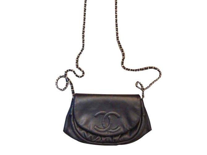 Sacs à main Chanel Sacs à main Cuir Noir ref.108764