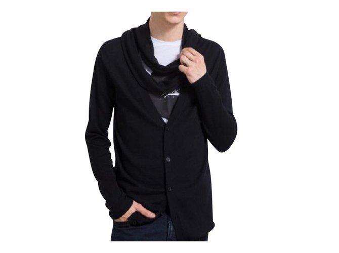 Karl Lagerfeld LAGERFELD MEN'S NEW CARDIGAN Sweaters Wool Black ref.108802