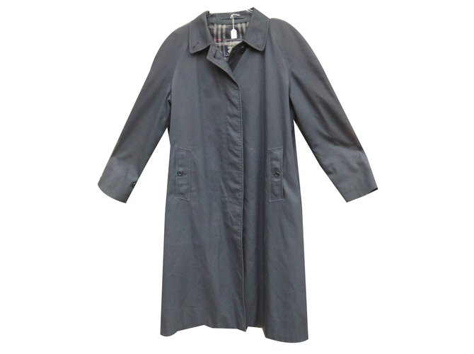 Burberry Trench coats Trench coats Cotton,Polyester Navy blue ref.108823