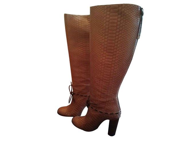 Chloé Boots Boots Python Light brown ref.108943