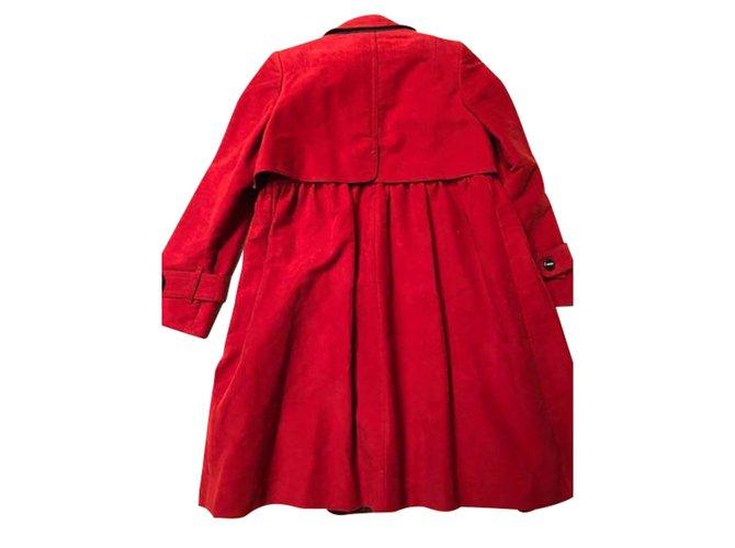 Manteaux Gucci Trench Gucci Coton Rouge ref.108984
