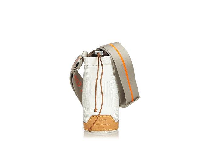 Sacs à main Louis Vuitton Boitier de bouteille Damier Geant Cuir,Autre,Toile,Tissu Blanc,Multicolore ref.108994