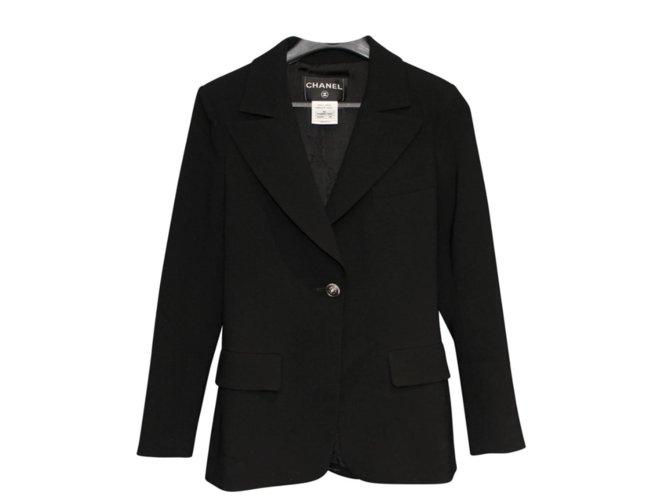 Chanel Chanel jacket Jackets Wool Black ref.109003