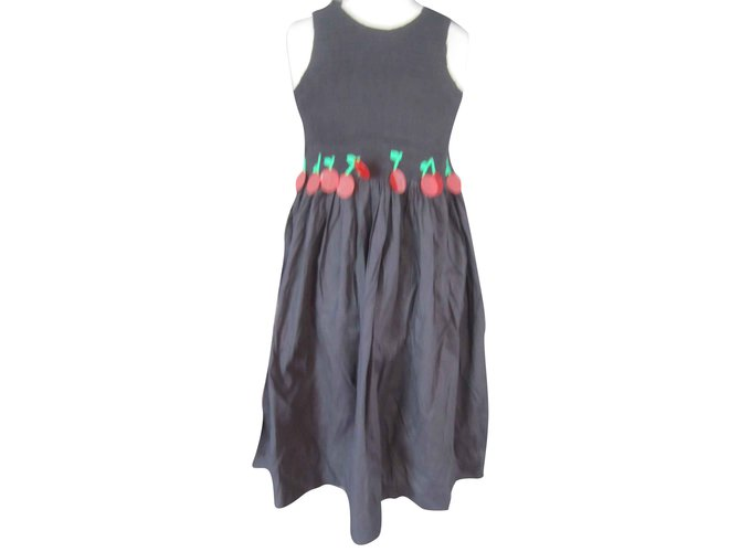 Robes fille Sonia Rykiel Robe Sonia Rykiel 10 ans neuf etiquette Coton Noir ref.109081
