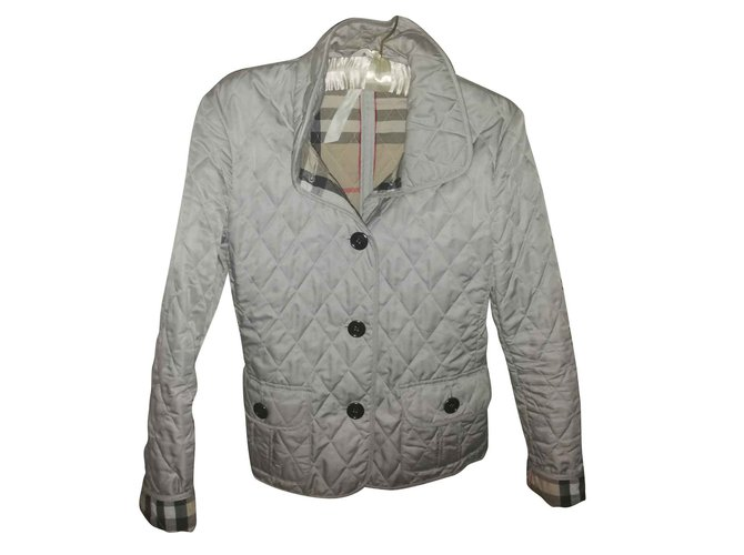 Burberry Jackets Jackets Cotton,Polyamide Grey ref.109094