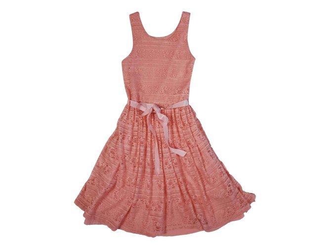Dkny Dresses Dresses Polyamide Peach ref.109121