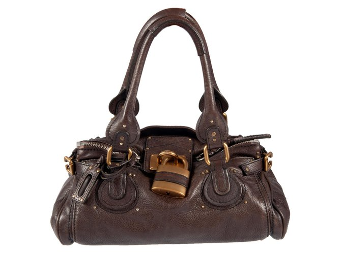 Chloé Leather ''Paddington'' handbag Handbags Leather Brown ref.109124