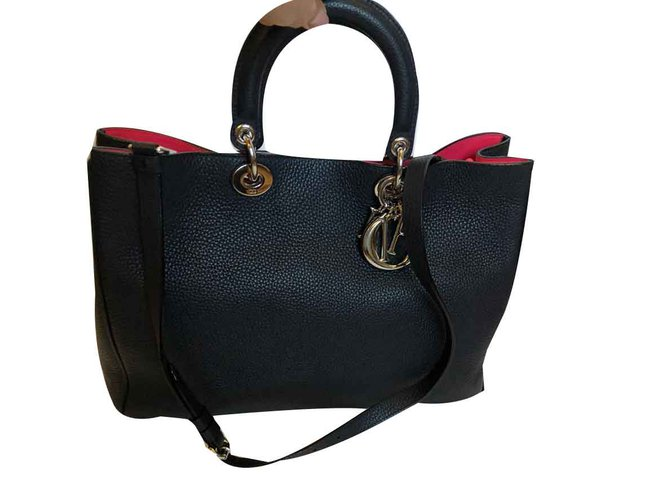 973921ec02f1 Christian Dior Diorissimo Handbags Leather Black ref.109226 - Joli ...