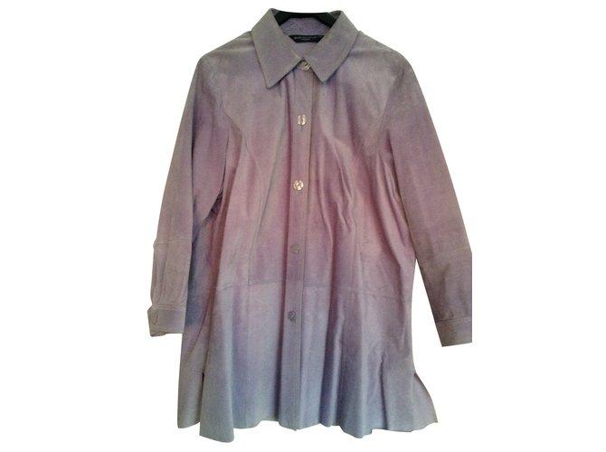 d61be683f547f Marina Rinaldi JACKET DAIM MARINA RINALDI Jackets Deerskin Purple ref.109274
