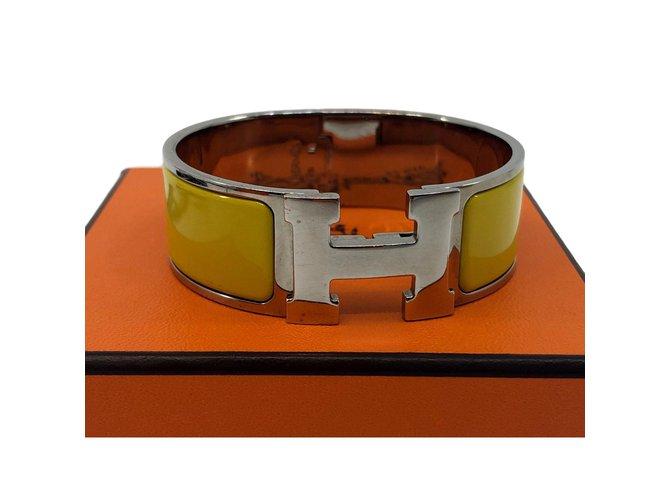 Hermès Click H Bracelets Metal Yellow ref.109295