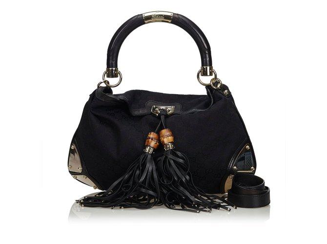 a88b5c3eed18 Gucci GG Jacquard Indy Satchel Handbags Leather
