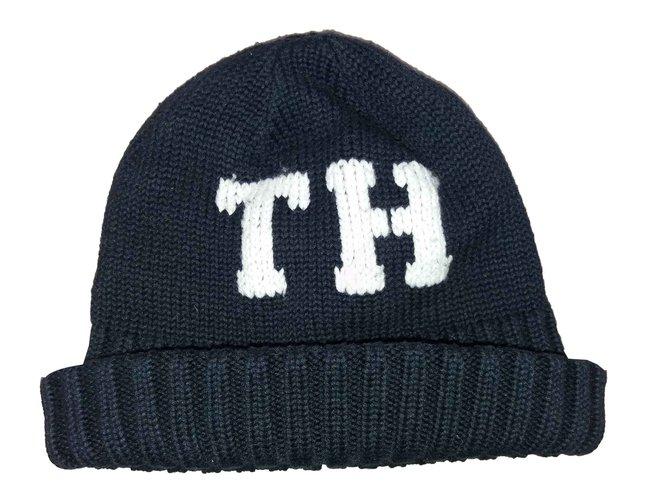 Chapeaux, bonnets, gants Tommy Hilfiger Bonnets Bonnets Gants Coton Bleu Marine ref.109411