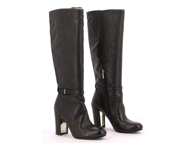 cf97c702fb Guess boots Boots Leather Black ref.109503 - Joli Closet