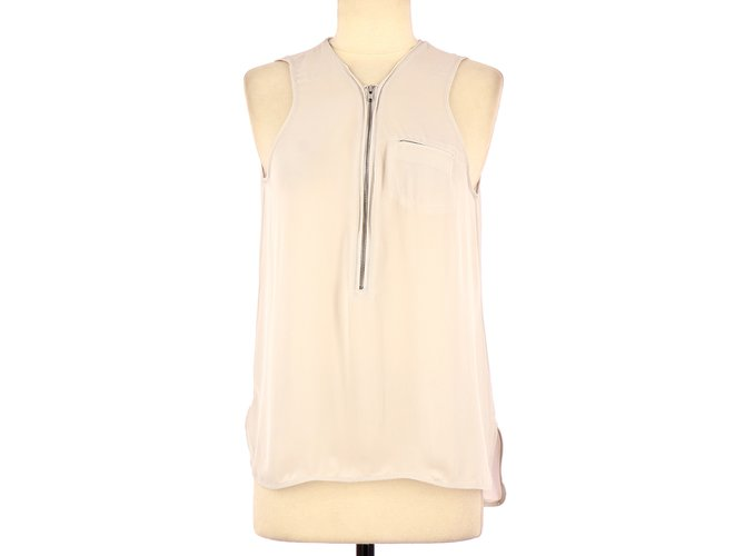 ae10cf9095 The Kooples top Tops Silk Beige ref.109587 - Joli Closet