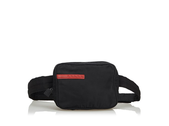 1767b5c2e70d21 Prada Sports Belt Bag Clutch bags Nylon,Cloth Black ref.109880 ...