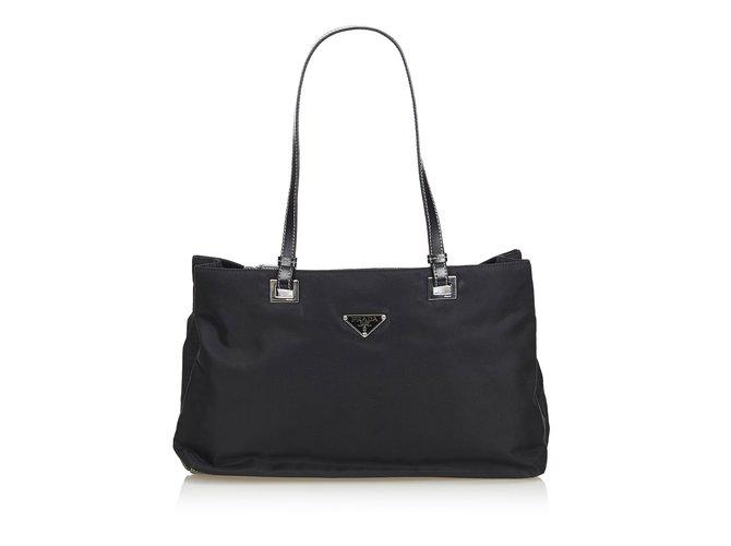 ace4e2773450 Prada Nylon Shoulder Bag Handbags Leather