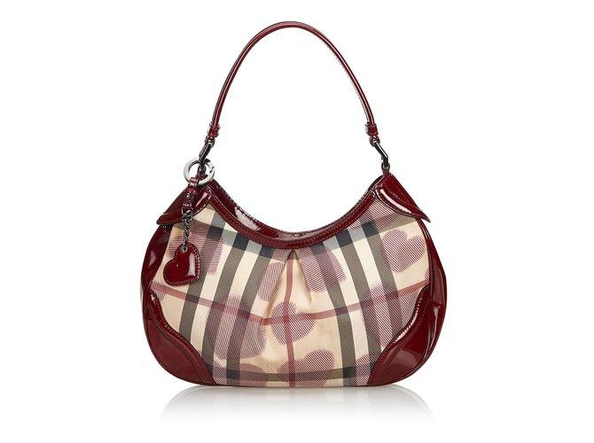 Burberry Heart Nova Check Shoulder Bag Handbags Leather 00f99275d39ea