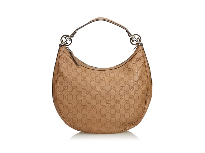 d98618b8e Gucci Guccissima Twins Hobo Bag Handbags Leather,Other Brown ref.109946