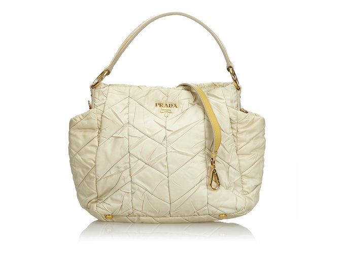 a3d7e1d13e12 official store prada belle leather shoulder bag 813ab 63c8b; spain prada  quilted nylon satchel handbags leatherothernyloncloth brownwhite 8136a e6b8c