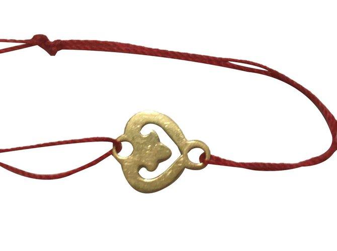Bracelets Autre Marque coeur légende pour bracelet cordon OJ PERRIN Or Doré ref.110005