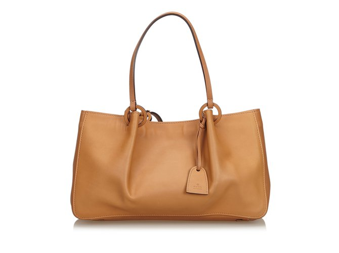 ea49dbd85d Gucci Leather Tote Bag Totes Leather,Other Brown,Light brown ref.110401