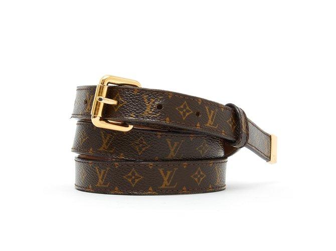 9fdb63971714 Louis Vuitton MONOGRAM BELT T90 Belts Cloth Brown