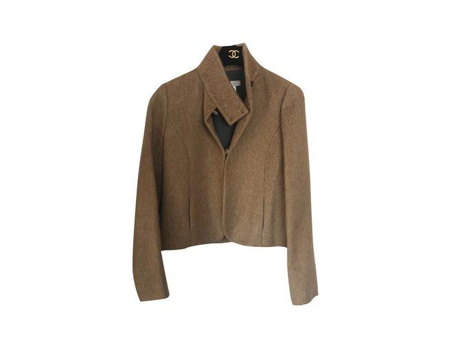 Chloé Chloe Coats, Outerwear Wool Beige ref.110793